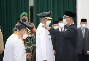 Gubernur Jabar Lantik Bupati dan Wabup Cianjur Terpilih Pilkada Serentak 2020