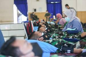Sambut HUT TNI ke-76, TNI AU Gelar Donor Darah