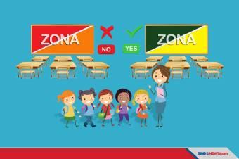 Sekolah Tatap Muka Dilarang di Zona Merah dan Orange