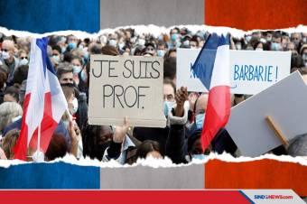 Demo Prancis Dipicu Guru yang Dipenggal karena Kartun Nabi Muhammad