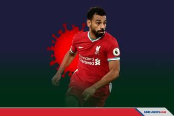 Mohamed Salah Tambah Daftar Pesepak Bola Positif Covid-19