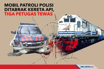 Mobil Patroli Polisi Ditabrak Kereta Api, Tiga Petugas Tewas