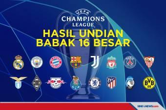 Hasil Undian 16 Besar Liga Champions: Barcelona Tantang PSG