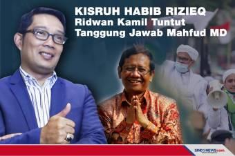 Kisruh Habib Rizieq, Ridwan Kamil Tuntut Tanggung Jawab Mahfud MD
