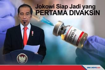 Jokowi Mengaku Siap Jadi yang Pertama Divaksin Corona
