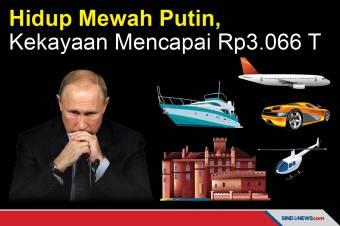 Hidup Mewah Putin, dengan Kekayaan Mencapai Rp3.066 T