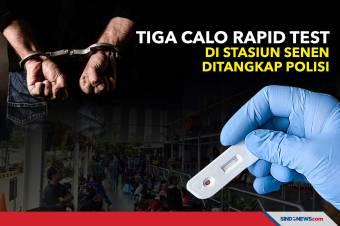 Tiga Calo Rapid Test di Stasiun Senen Ditangkap Polisi
