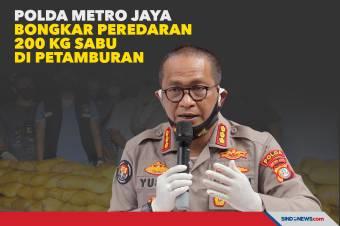 Polda Metro Jaya Bongkar Peredaran 200 Kg Sabu di Petamburan