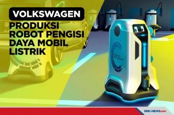 Volkswagen Siapkan Robot Pengisi Daya Mobil Listrik