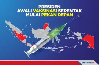 Presiden Awali Vaksinasi Serentak Mulai Pekan Depan