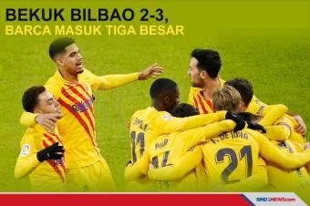 Bekuk Bilbao 2-3, Barcelona Masuk Tiga Besar Klasemen