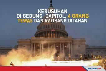 Kerusuhan di Gedung Capitol, 4 Orang Tewas dan 52 Orang Ditahan