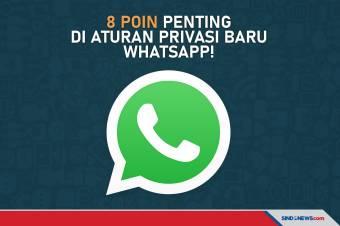 Delapan Poin Penting di Aturan Privasi Baru WhatsApp!