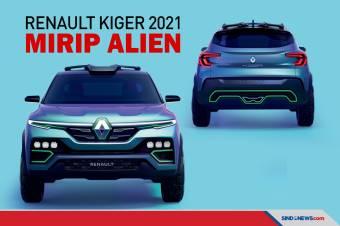 Mirip Alien, Tampang SUV Renault Kiger 2021 Tampil Sporty