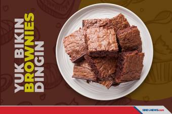 Brownies Dingin Sensasi Teksturnya Beda, Yuk Bikin!