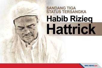 Habib Rizieq Sandang Tiga Status Tersangka, Hattrick