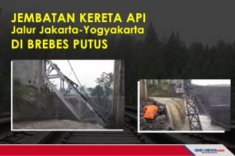 Jembatan Kereta Api Jalur Jakarta-Yogyakarta di Brebes Putus