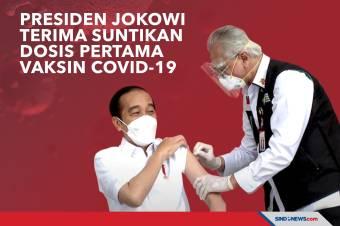 Presiden Jokowi Terima Suntikan Dosis Pertama Vaksin Covid-19
