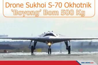 Drone Sukhoi S-70 Okhotnik Uji Pelepasan Bom 500 Kg