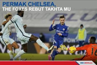 Kalahkan Chelsea 2-0, The Foxes Rebut Takhta Man United