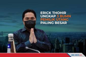 Erick Thohir Ungkap 3 BUMN Pemilik Utang Paling Besar