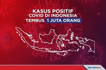 Kasus Positif Covid di Indonesia Tembus 1 Juta Orang