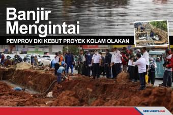 Pemprov DKI Kebut Proyek Kolam Olakan Antisipasi Datang Banjir