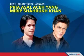 Keseharian Teuku Hasnawi Pria asal Aceh yang Mirip Shahrukh Khan