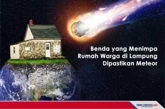 Benda yang Menimpa Rumah Warga di Lampung Dipastikan Meteor