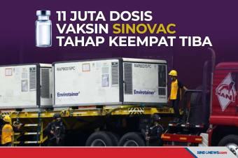 Lagi, 11 Juta Vaksin Covid-19 Sinovac Tiba di Indonesia