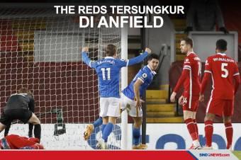 Keok di Anfield, Liverpool Semakin Jauh dari Puncak Klasemen