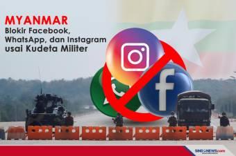 Myanmar Blokir Facebook, WhatsApp, dan Instagram usai Kudeta