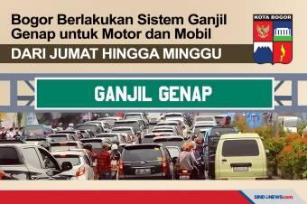 Berlakukan Ganjil Genap Motor dan Mobil dari Jumat hingga Minggu