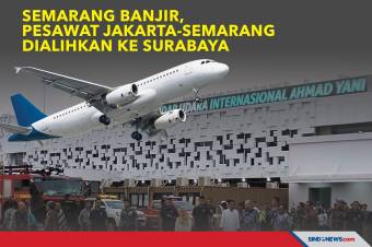 Semarang Banjir, Pesawat Jakarta-Semarang Dialihkan ke Surabaya