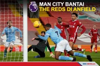 Bantai The Reds di Anfield, Man City Kokoh di Puncak Klasemen