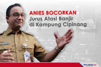 Anies Bocorkan Jurus Atasi Banjir di Kampung Cipinang