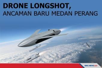 Drone LongShot Bisa Diluncurkan Jet Tempur, Serang Banyak Target