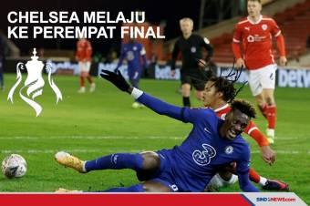Gol Tammy Abraham Bawa Chelsea ke Perempat Final Piala FA