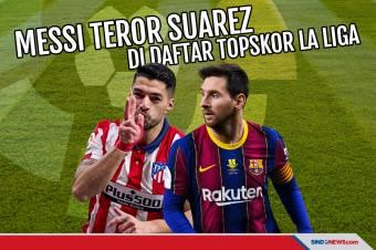 Messi Teror Luis Suarez di Daftar Top Skor Sementara La Liga