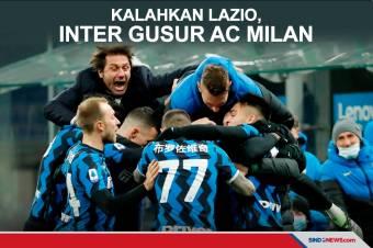 Kalahkan Lazio, Inter Kudeta AC Milan dari Puncak Klasemen