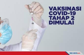 Target 38,5 Juta Orang, Vaksinasi COVID-19 Tahap 2 Dimulai