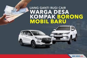 Uang Ganti Rugi Cair, Warga Satu Desa Kompak Borong Mobil Baru
