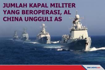 Jumlah Kapal Militer yang Beroperasi, AL China Ungguli AS