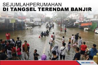 Sejumlah Perumahan di Tangsel Terendam Banjir hingga 2 Meter