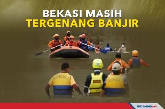 Sejumlah Wilayah di Bekasi Masih Tergenang Banjir