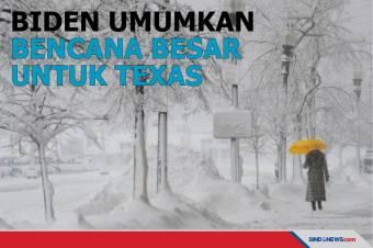 Biden Umumkan Bencana Besar untuk Texas, Kirim Bantuan Federal