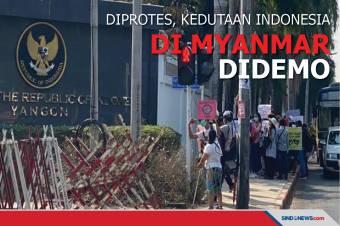 Indonesia Diprotes, Kedutaan-besarnya di Myanmar Didemo