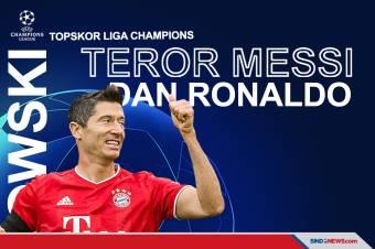 Lewandowski Teror Messi-Ronaldo di Daftar Topskor Liga Champions