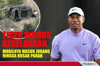 Tiger Woods Kecelakaan, Mobilnya Masuk Jurang hingga Rusak Parah
