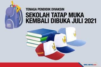 Tenaga Pendidik Divaksin, Sekolah Tatap Muka Dibuka Juli 2021